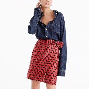 Jcrew heart mini skirt